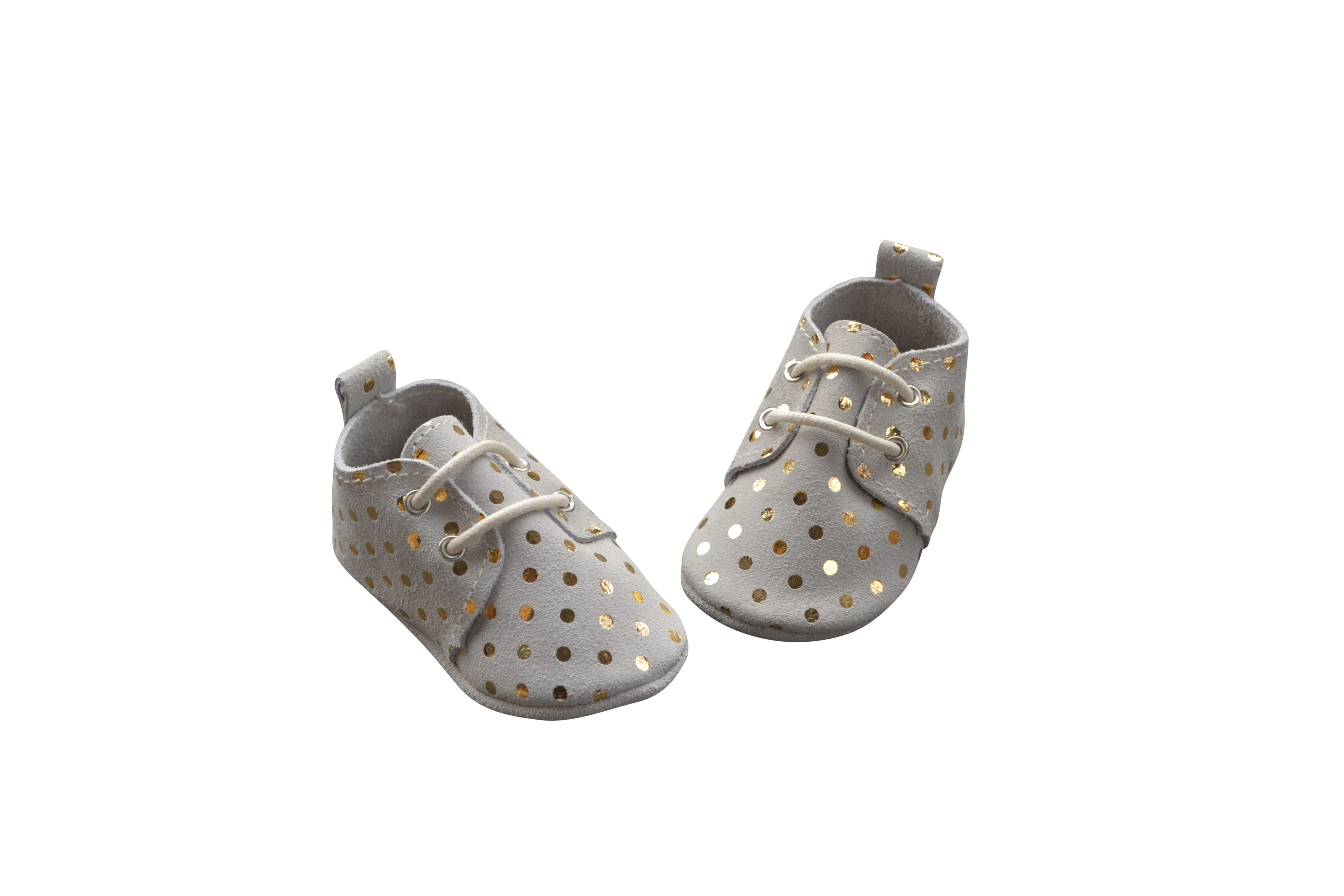 Baby leather suede oxfords gold dot suede baby shoes